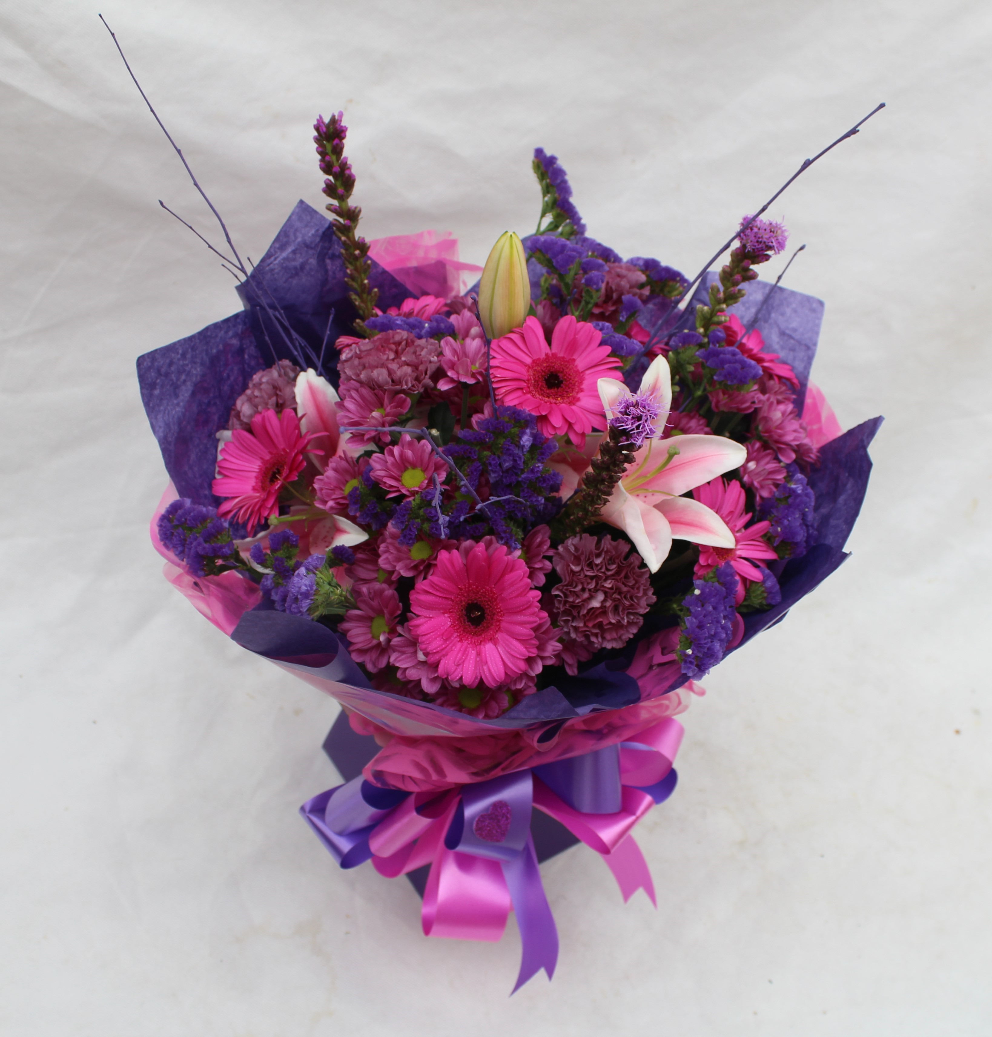 Hand Tied Cluster Bouquet of Mixed Colours