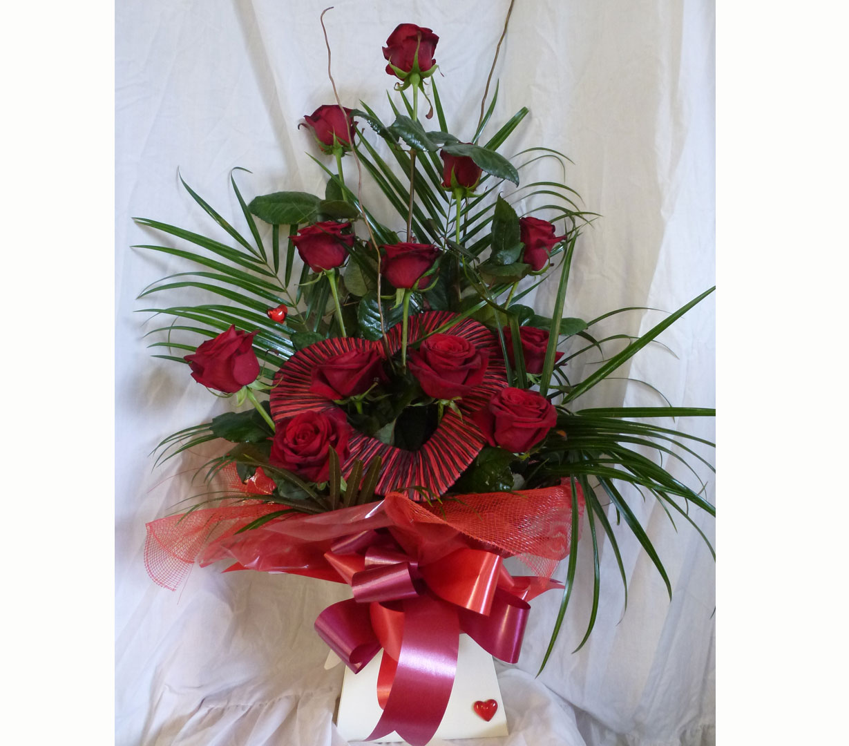 Romantic arrangement of Red Roses