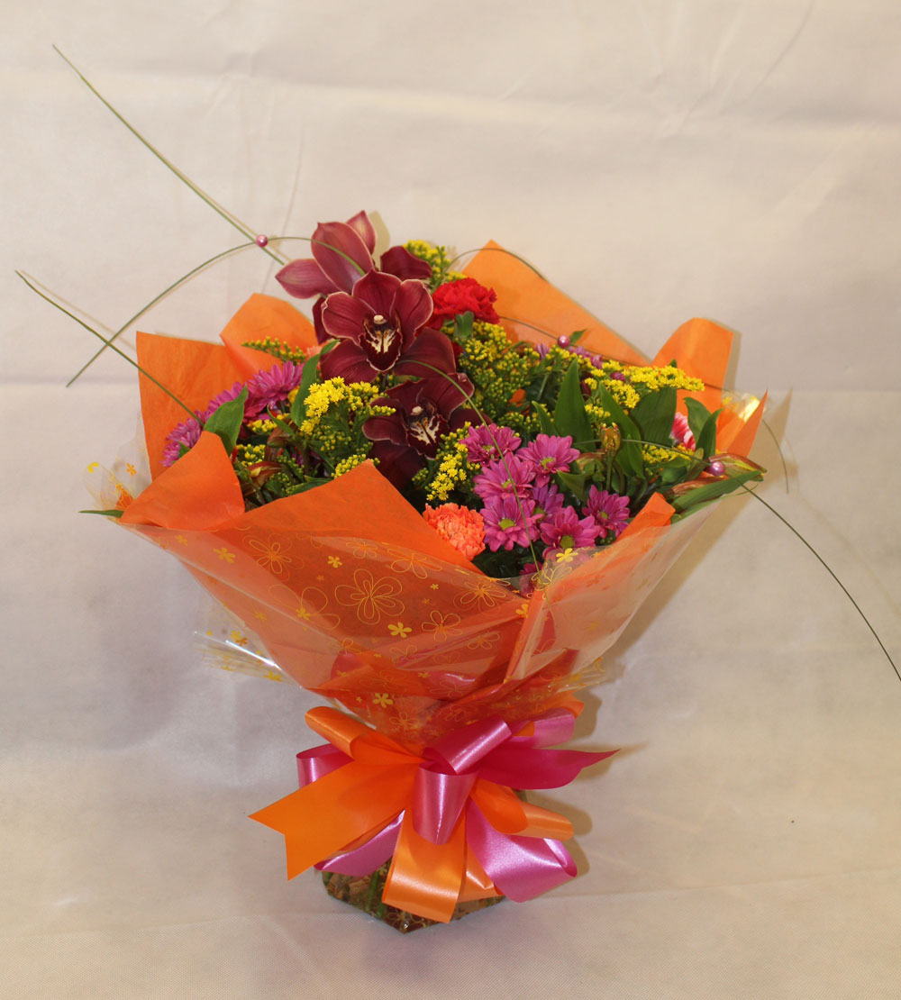 Beautiful Summer Colours Hand Tied Cluster Bouquet