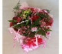 Hand Tied Cluster Bouquet of Pink and Red Flowers Image 1