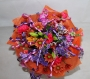 Hand Tied Cluster Bouquet of Mixed Bright Colours Image 1