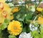 Beautiful Green and Yellow Hand Tied Cluster Bouquet Image 1