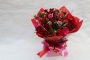 valentines Red and Pink romantic aqua pack bouquet Image 0