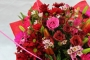valentines Red and Pink romantic aqua pack bouquet Image 1