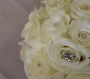 Wedding Bouquet of White Roses and Crystals Image 1