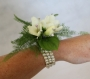Dainty Freeshias and Crystals Wrist Corsage Image 1
